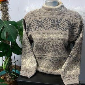 NEW Vintage Eddie Bauer Wool Fisherman Sweater